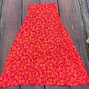 LuLaRoe Maxi Skirt - Medium. Pink/Orange